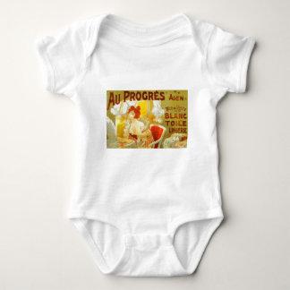 Au Progrès Lingerie French victorian woman advert Infant Creeper