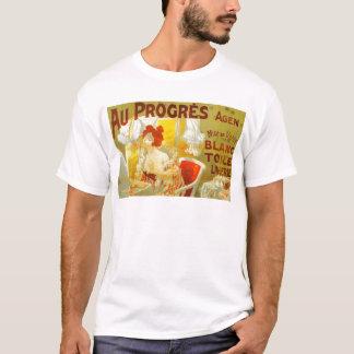 Au Progrès Lingerie French victorian woman advert T-Shirt