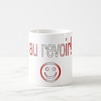 Au Revoir! Canada Flag Colors Coffee Mug