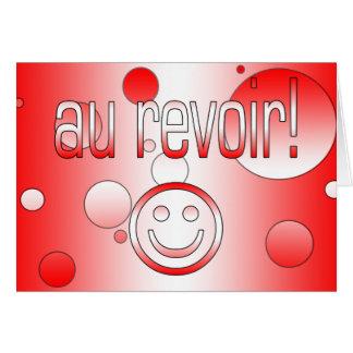 Au Revoir! Canada Flag Colors Pop Art Card
