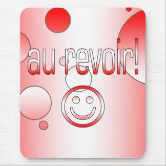 Au Revoir! Canada Flag Colors Pop Art Mouse Pad