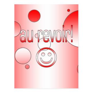 Au Revoir! Canada Flag Colors Pop Art Postcard