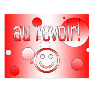 Au Revoir! Canada Flag Colors Pop Art Postcard