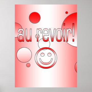 Au Revoir! Canada Flag Colors Pop Art Poster