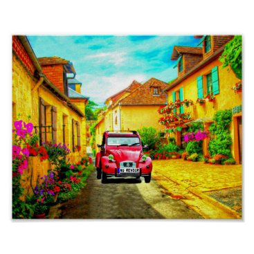 frankiesdaughter Au Revoir-Driving through a Village in France Art Poster