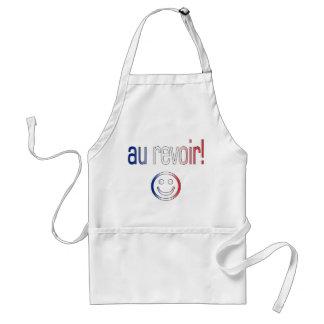 Au Revoir! French Flag Colors Adult Apron
