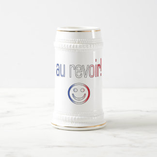 Au Revoir! French Flag Colors Beer Stein