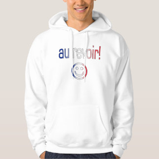 Au Revoir! French Flag Colors Hoodie