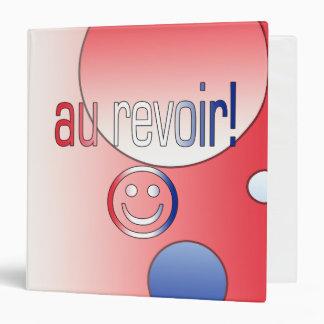Au Revoir! French Flag Colors Pop Art Binder
