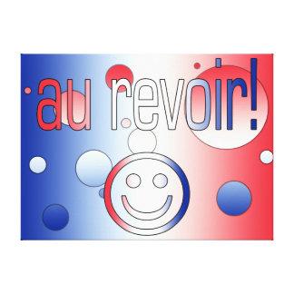 Au Revoir! French Flag Colors Pop Art Canvas Print