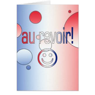 Au Revoir! French Flag Colors Pop Art Card