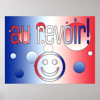 Au Revoir! French Flag Colors Pop Art Poster