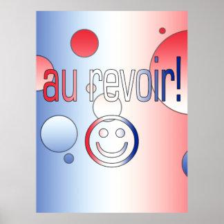 Au Revoir! French Flag Colors Pop Art Print
