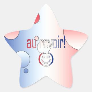 Au Revoir! French Flag Colors Pop Art Star Sticker
