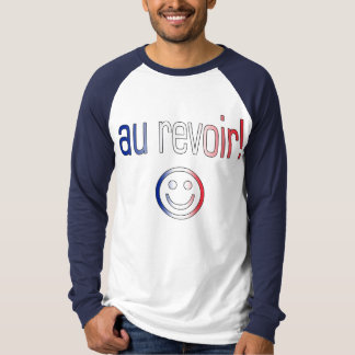 Au Revoir! French Flag Colors T Shirt