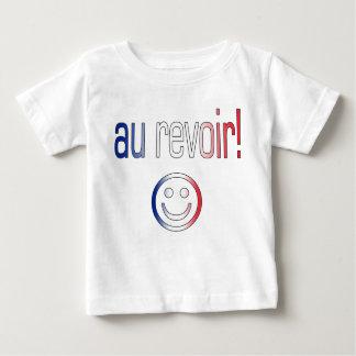 Au Revoir! French Flag Colors Tee Shirt