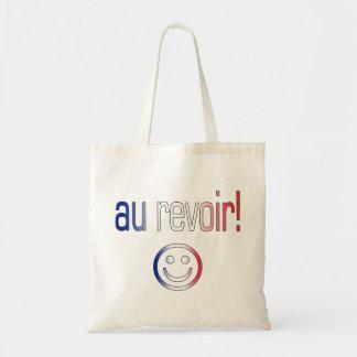 Au Revoir! French Flag Colors Tote Bag