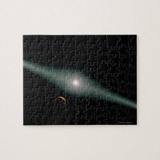 AU rojo Microscopii de la estrella enana Rompecabeza