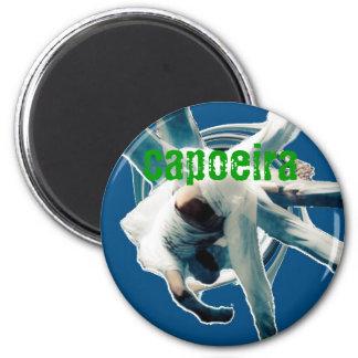 au sem mao blue, capoeira 2 inch round magnet