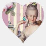 Au Trianon pequeno de Thé - color de rosa Pegatinas De Corazon
