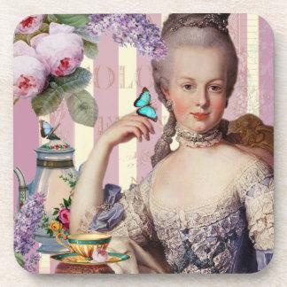 Au Trianon pequeno de Thé - color de rosa Posavasos