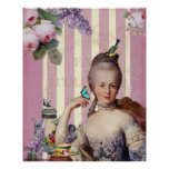 Au Trianon pequeno de Thé - color de rosa Poster