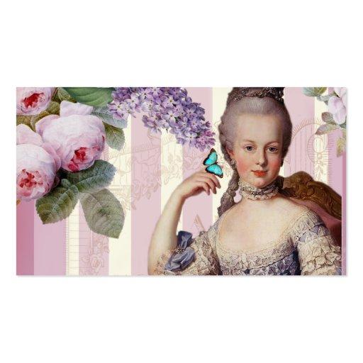 Au Trianon pequeno de Thé - color de rosa Tarjeta De Visita