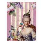 Au Trianon pequeno de Thé - color de rosa Tarjetas Postales