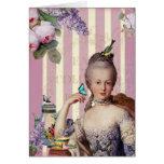 Au Trianon pequeno de Thé - el rosa vierte Vous Felicitaciones