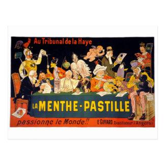 Au tribunal de la Haye, la menthe-pastille Vintage Postcard