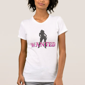AUB cowgirl t's WANTED T-Shirt