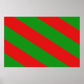 Aubange, Belgium flag Poster