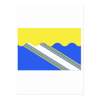 Aube flag postcard