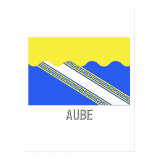 Aube flag with name postcard