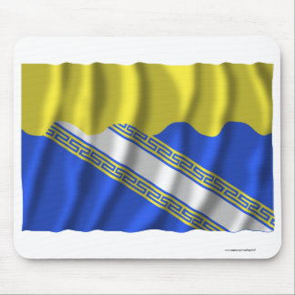 Aube waving flag mouse pad