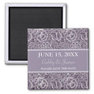 Aubergine Plum Save the Date Wedding Magnet