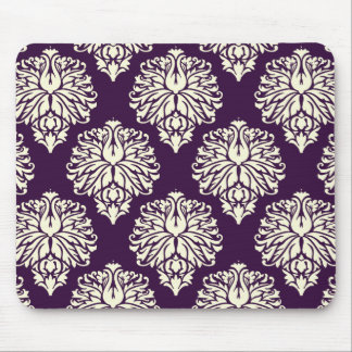 Aubergine Southern Cottage Damask Mouse Pad