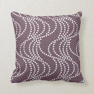 Aubergine Wave Pattern Pillow