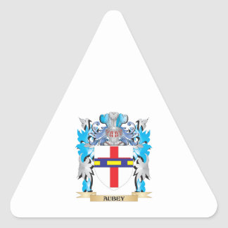 Aubey Coat Of Arms Triangle Sticker