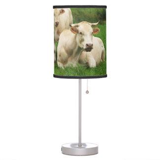 Aubrac Cows in a Field Desk Lamp