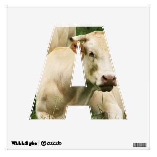 Aubrac Cows in a Field Wall Sticker