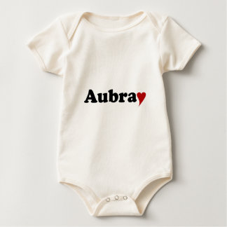 Aubray with Heart Rompers
