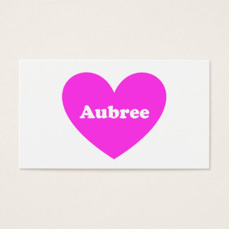 Aubree Business Card