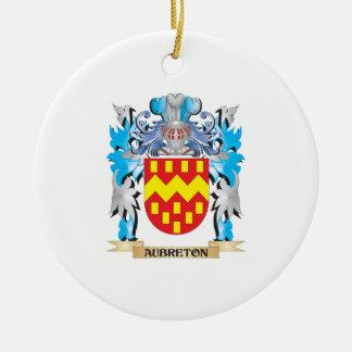 Aubreton Coat Of Arms Christmas Ornaments
