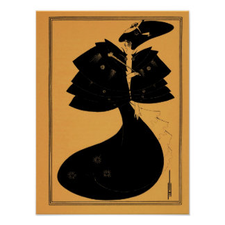 Aubrey Beardsley drawing from Salome Poster