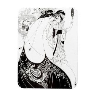 Aubrey Beardsley el imán de la falda del pavo real
