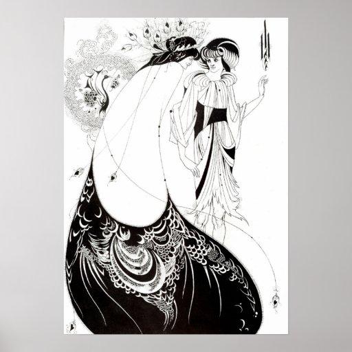 Aubrey Beardsley el poster de la falda del pavo re