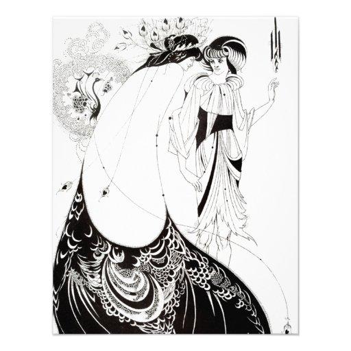 Aubrey Beardsley las invitaciones de la falda del  Anuncio