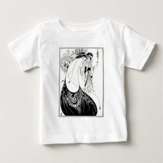 Aubrey Beardsley Peacock Skirt Baby T-Shirt