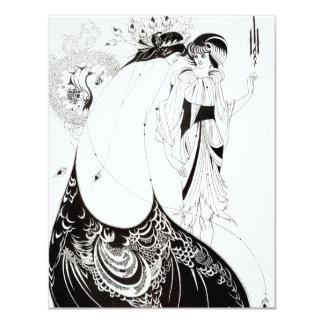 Aubrey Beardsley The Peacock Skirt Invitations